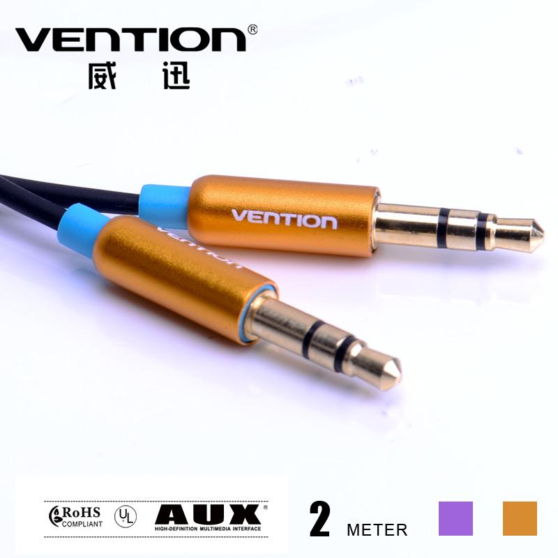 Plaqué or câble aux parfait pour la voiture standard 3.5mm mâle. 3.5mm 2m mâle câble audio stéréo pour téléphone mobile mp3 mp4 pc