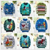 New 2014 Spring Autumn Long Sleeves sweater Children Knitwear,Cartoon  Boy Girls Clothing,Unisex Tops