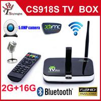 CS918S Android 4.4.2 Smart TV Box Allwinner A31 Quad Core 2G/16G XBMC Bluetooth HDMI Media Player TV Receiver Free Shipping
