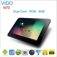 YuanDAO/Vido N70  White 7 inch IPS Capacitive Touch Screen Android 4.2 Front Camera 512MB 8GB RK3066 Cortex A9 Dual Core 1.2GHz