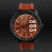 SINOBI Brand Antique Style Men Silicone Watch Fashion Male Quartz Watch Sport Wristwatches Man Military Watches MN4634