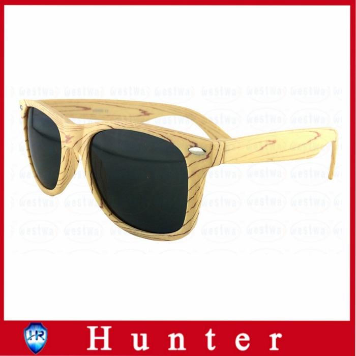 2014 Hot Imitation Wood Sunglasses Plastic Frame for Men Wayfarer Glasses Dark Lenses UV400 Protection Bamboo Pattern Eswd4002(China (Mainland))