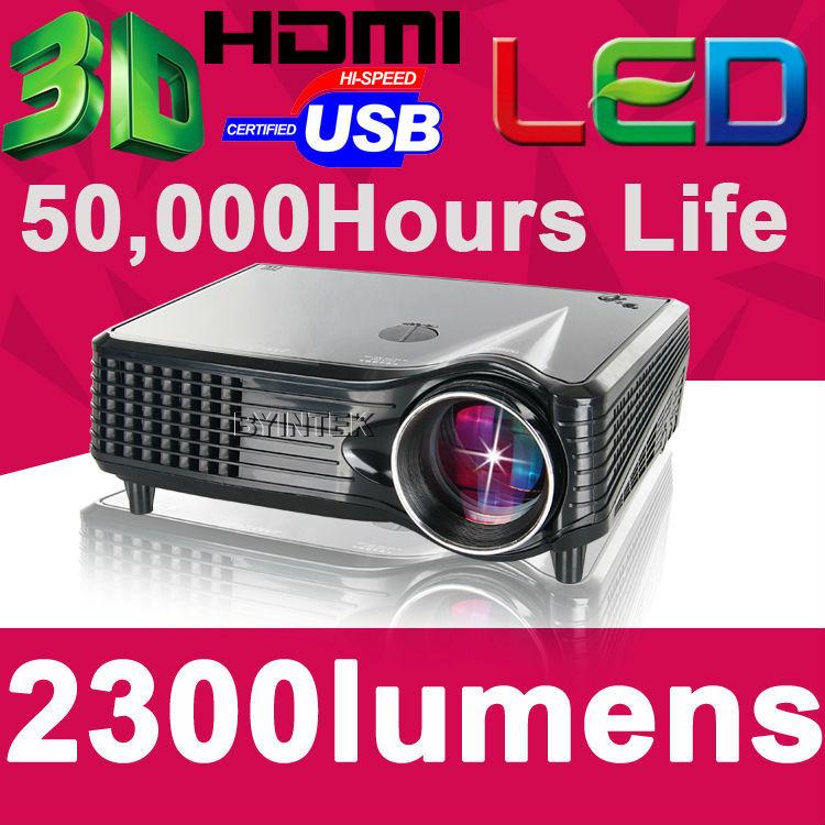 High Definition Home Theater 2300Lumens HDMI Brand USB 1080P LCD Mini FUll hD Video 3D LED Pr