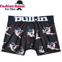 (2 pieces/lot) 2015NEW Pull in men boxer sepcial design sexy men's underwear super brand mens boxer shorts