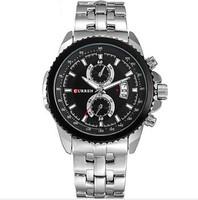 new seconds kill hardlex stainless steel 2014 curren men sports watches wristwatches quartz watch 8082 male clock Analog