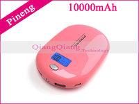 10000mAh Original Pineng Mobile Power Bank PN-938 Dual USB External Battery Pack For Galaxy S5 Iphone I6 5S/Retail Box/Gray
