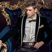 Royal men's clothing 2014 spring set male suit formal casual dress  male slim fit  wedding  blazer 14009