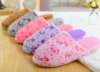 2015 high quality slippers soft cotton Winter home indoor slippers women men couple flats Shoes plush Hand-sewing shoes
