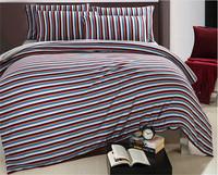 Fashion stripe bedding set king size hot sale bed linen 4pcs comforter set queen/quilt cover/duvet cover/sheet