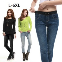 Plus Size S-4xl 5xl 6xl (Waist 42 inch) Women's Jeans 2014 New Fashion Clothing Spring Autumn Female Pants Brand Woman Trousers