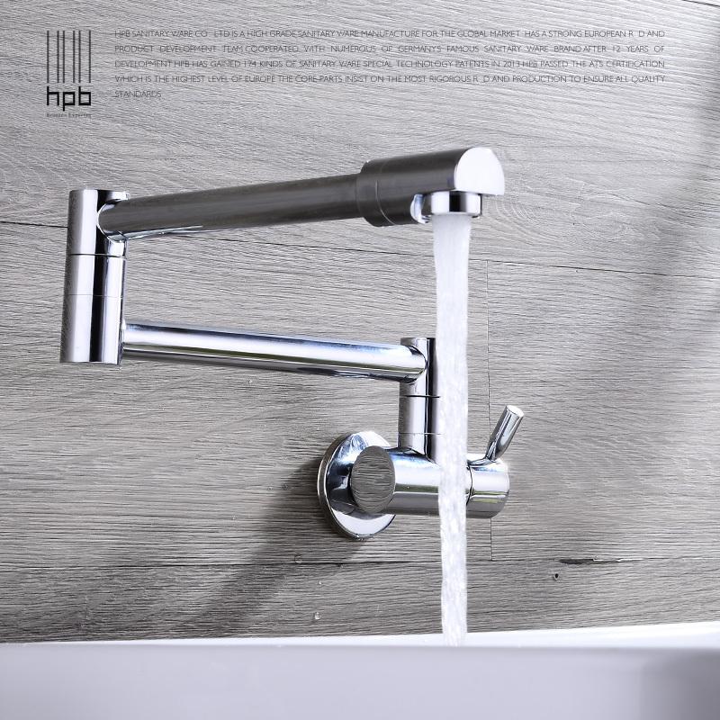 Keukenkraan Muur : Single Wall Mount Faucet Swing Spout