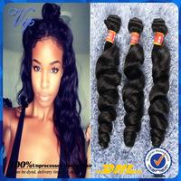 Peruvian Loose Wave 3/4pcs lot Grade 5A Unprocessed Human Hair MS Lula Hair Peruvian Virgin Hair Loose Wave Curly VIP Beauty
