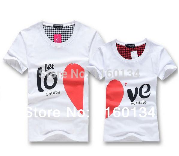 camiseta para parejas y amantes de ropa Camisa de los amantes camiseta