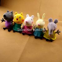 Peppa George Pig Peppa Pig Friends Stuffed Plush Brinquedos Doll Kids Gift 19cm 5Pcs/lot Free Shipping