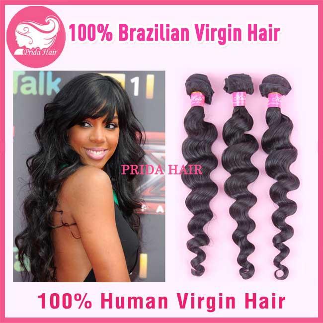 Grade 6A Brazilian Loose Wave Hair Extensions 3Pcs Lot Loose Wave Virgin Hair Bundles 8-28Inch Brazilian Virgin Hair Weave(China (Mainland))