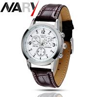 6033# Business Men Watches Quartz Watch Stainless band Calendar Wristwatch Uhr/Voir/horloge/hodinky/Gledaj/Assista/Klocka/Guarda