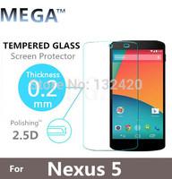 1PC  Amazing H+ Nanometer 2.5D Border Round Anti-Explosion Tempered Glass Screen Protector Film For  nexus 5 E980