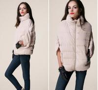 2014 full new Ladies Fashion Down Coat Winter Jacket Outerwear Bat Sleeve in Thick Women Jackets Parka fur Overcoat feminina