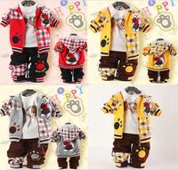 CHILD CLOTHING BRAND CHILD 2015 Spring CLOTHING SET Baby Boy Clothing Set Child Set Freeshipping