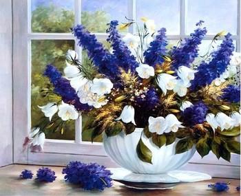 Diy 3D круглый бриллиант живопись вышивка горный хрусталь кристалл дрель рукоделие 5d вышивки крестом комплект европейский фиолетовый лаванда цветок