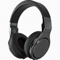 Free Shipping Grade A quality Stereo bass Pro Full black Headphone Noise Cancelling with MIC by post