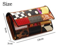 Female Wallets 2014 fashion Patchwork genuine leather long design women's genuine leather wallet fashion wallet