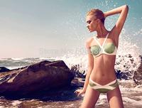 2015 Patchwork Bikini Set Vintage Bathing Suit Brand Ladies Swimsuit Women Biquini 1415