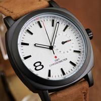 Promotion Model Curren Brand Leather Strap Men Sports Watches,2 Colors Fashion Men Luxury Quartz Wristwatches,Free Shipping