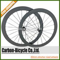 powerway R13 700C 50mm clincher carbon bicycle wheels ultra light 700C carbon fiber road bike wheelset