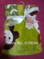 Retail 2014 Baby blankets super soft newborn children blankets child bedding Kids blanket green animal lion  free shipping