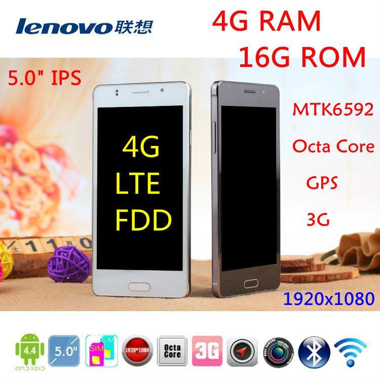 Original Android 4.4.3 Phone lenovo phone MTK6592 Octa Core 1.9Ghz 2GB RAM 3G WCDMA GPS 5.0'' 1280x720 dual SIM 8MP mobile phone(China (Mainland))