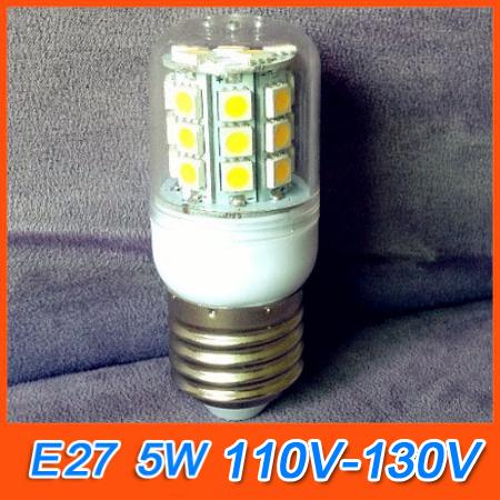 Светодиодная лампа Oem lampada E27 5W 110/130 v Epistar smd 5050 30 & 450/600