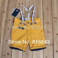 5 pcs/lot  children pants Brand UK Design 3 colors overalls 2014 new kids pants Summer Fashion Button Zipper boys shorts