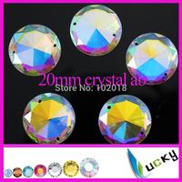 Bling!Highest Quality Crystal ab sew on Strass! 45pcs 20mm 1071# Flat back strass Rhinestones beads for wedding dress