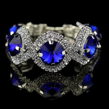 silver girl crystal bracelet 2014 valentine day gift Модный silver plated Зеленый ...