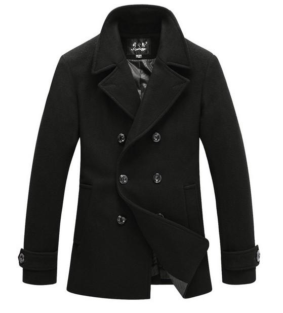 M - 3XL Overcoat Men Coat Double Breasted Wool Male Men Jacket Male Overcoat Peacoat Manteau Homme Gasalho Casacos Masculino(China (Mainland))