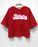 Free Shipping New 2014 Korean fashion  design Crop tops  harajuku cotton  Print a T shirt  tops for women