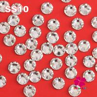 Nail Rhinestone SS10 1440pcs/Bag Crystal Non Hot Fix FlatBack Rhinestones Strass For Nail Art Decoration