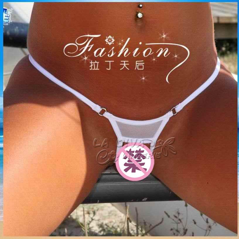 Women Sheer Mesh See Through Open Crotch Sexy MIcro Bikini Thong G-String Panties Brief Swimwear Underwear Lingerie Lover SexToy(China (Mainland))