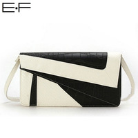 Free shipping! European High-grade Women Handbag PU Leather Snake Stripe Envelope Clutches Contrast Color Evening Bags