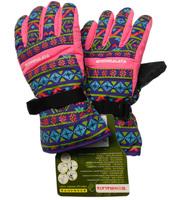 Top Quality Kid's Boy Girl Child Medium Winter Warm Waterproof Windproof Soft Shell Ski Snowboard Gloves Purple