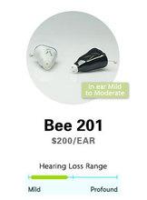 Hearing Amplifier Hearing Aids. Bee  II 201. Sound Amplifier. CIC Hearing Aid.  Ear Aid. Free Shipping!(China (Mainland))