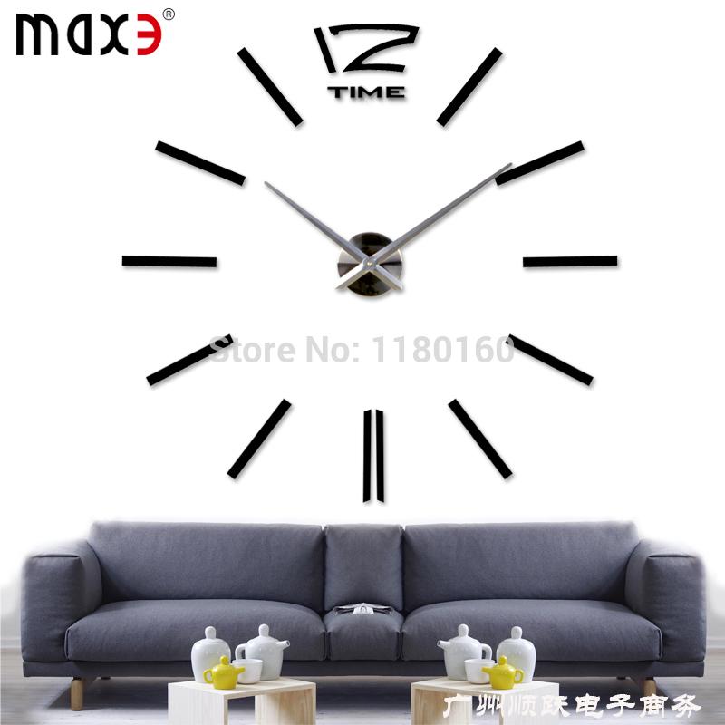 Jam Dinding Besar Unik Digital Besar Diy Jam Dinding
