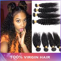 Hot! Malaysian Curly Virgin Hair Bundles 4 pcs/lot Natural Color Modern Show Malaysian Deep Curly Hair Bundle Deal free shipping
