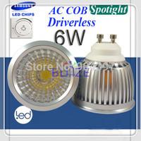 Retail Sample New No Driver EMC led spot light bulbs GU10 6W Samsung AC COB CRI>80R 230V H60mm 4 Years Warranty