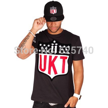 unkut t-shirt new brand 2014 leather hip hop moleton t shirts skate fashion hiphop t-shirts camisa masculina men tee shirt tops(China (Mainland))