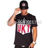 unkut t-shirt new brand 2014 leather hip hop moleton t shirts skate fashion hiphop t-shirts camisa masculina men tee shirt tops
