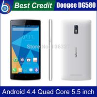 "Presell Original Doogee KISSME DG580  Android 4.4 5.5"" Inch MTK6582 Quad Core mobile Phone 3G 1GB RAM 8GB ROM 8MP WCDMA/Kate"