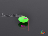 Oval luminous beads Fishing accessories length: 10mm diameter: 6mm Green color 200pcs/lot Free shipping