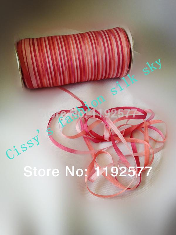 4mm 100% pure silk ribbon embroidery designs,2014 new style,satin ribbon,garment accessory silk ribbon,multicolor silk ribbon(China (Mainland))